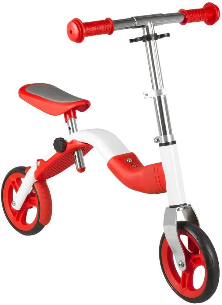Samsa Kinder Lernlaufrad und Scooter, Rot, 7 Zoll Bild 1