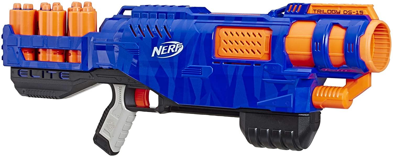 Trilogy DS-15 Nerf N-Strike Elite Spielzeug Blaster mit 15 Nerf Elite Darts und 5 Hülsen – Für Kinder, Teenager, Erwachsene Bild 1