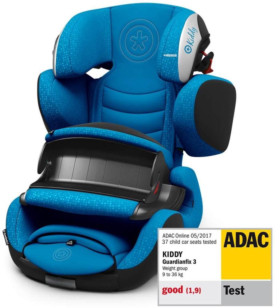 Kiddy Guardianfix 3 | Autokindersitz (Gruppe 1/2/3) (ca. 9 Monate bis 12 Jahre) (ca. 9kg - 36kg) mit Isofix | Kollektion 2019 | Sky Blue Bild 1