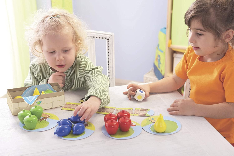 Haba 4655 - Meine ersten Spiele Erster Obstgarten, unterhaltsames Brettspiel rund um Farben und Formen ab 2 Jahren, Holzspielzeug und Lernspiel, der Spieleklassiker für kleine Kinder Bild 1