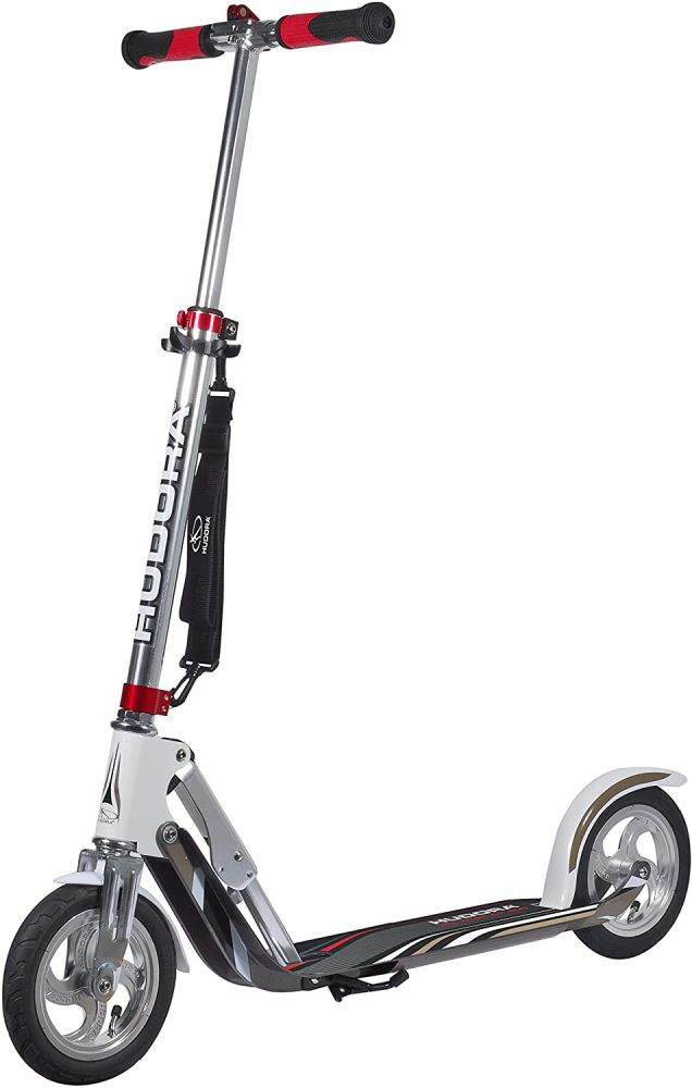 HUDORA Unisex Jugend Air GS 205 Luftreifen Big Wheel Tret-Roller City Scooter, Silber/weiß, 1size Bild 1