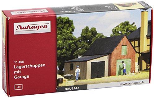 Auhagen 11408 - Lagerschuppen mit Garage Bild 1