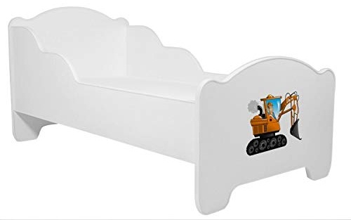 Angelbeds 'Micha Micha' Kinderbett 80 x 160 cm, Motiv 4, mit Lattenrost, Matratze und mit Bettschublade Bild 1