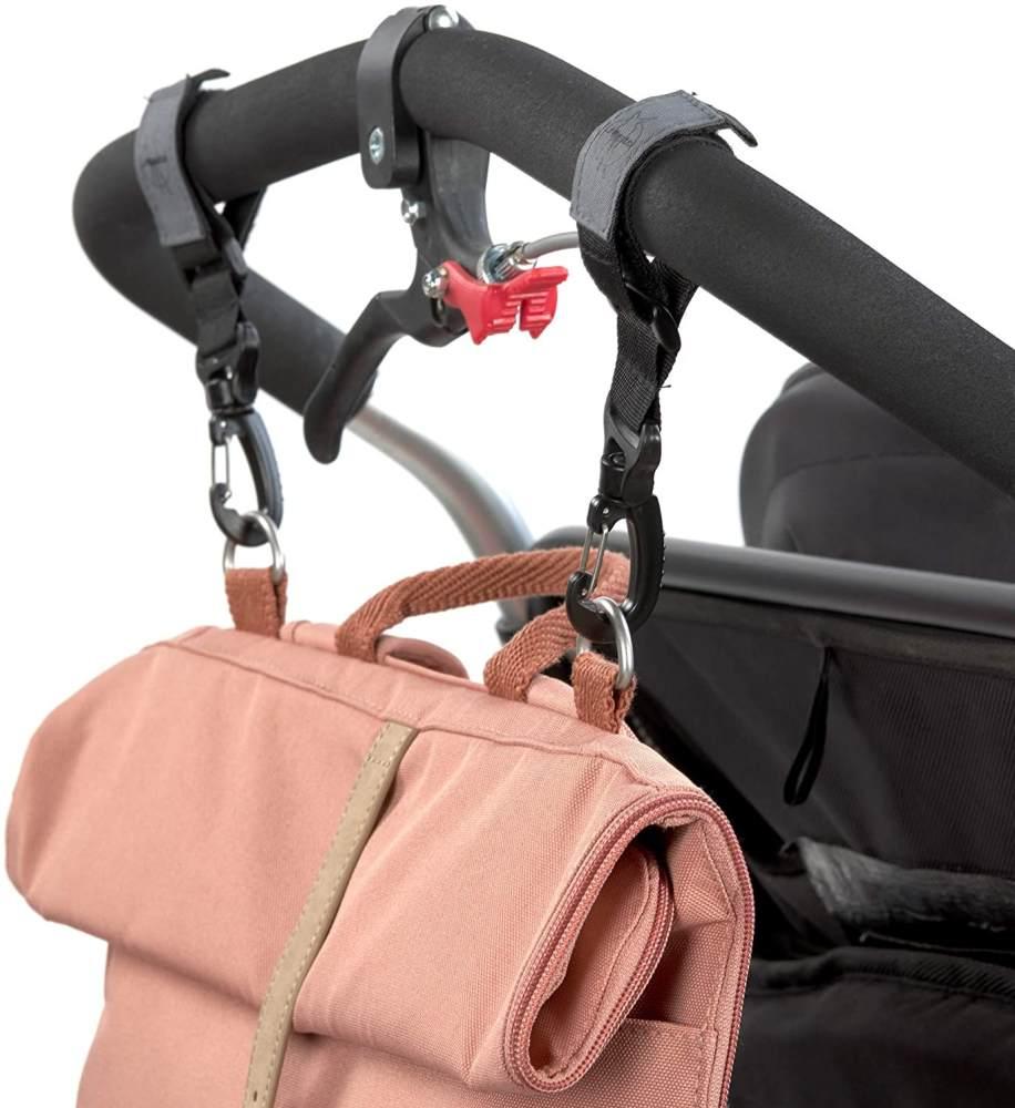 LÄSSIG Baby Wickelrucksack mit Wickelunterlage, Kinderwagenbefestigung, Flaschenwärmer wasserabweisend nachhaltig produziert/Rolltop Backpack cinnamon Bild 1