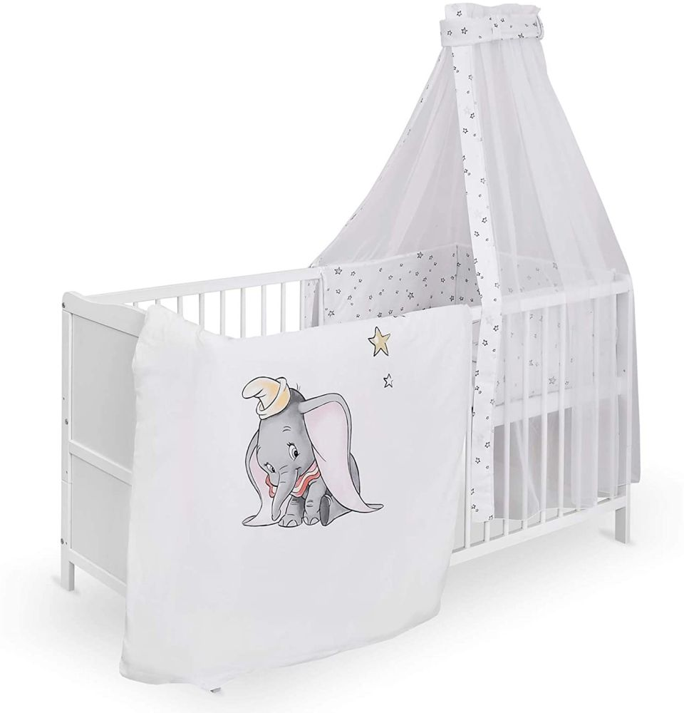 Urra Komplett-Kinderbett Luca 60x120 cm Kiefer weiß Disney Dumbo Bild 1