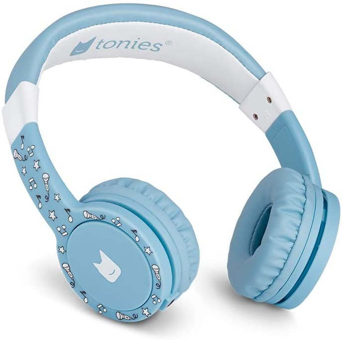 Tonies 'Tonie-Lauscher' Hellblau, Kinder-Kopfhörer passend zur Toniebox, Lautstärke reguliert, abnehmbares Kabel, größenverstellbar, bewegliche Ohrmuscheln Bild 1