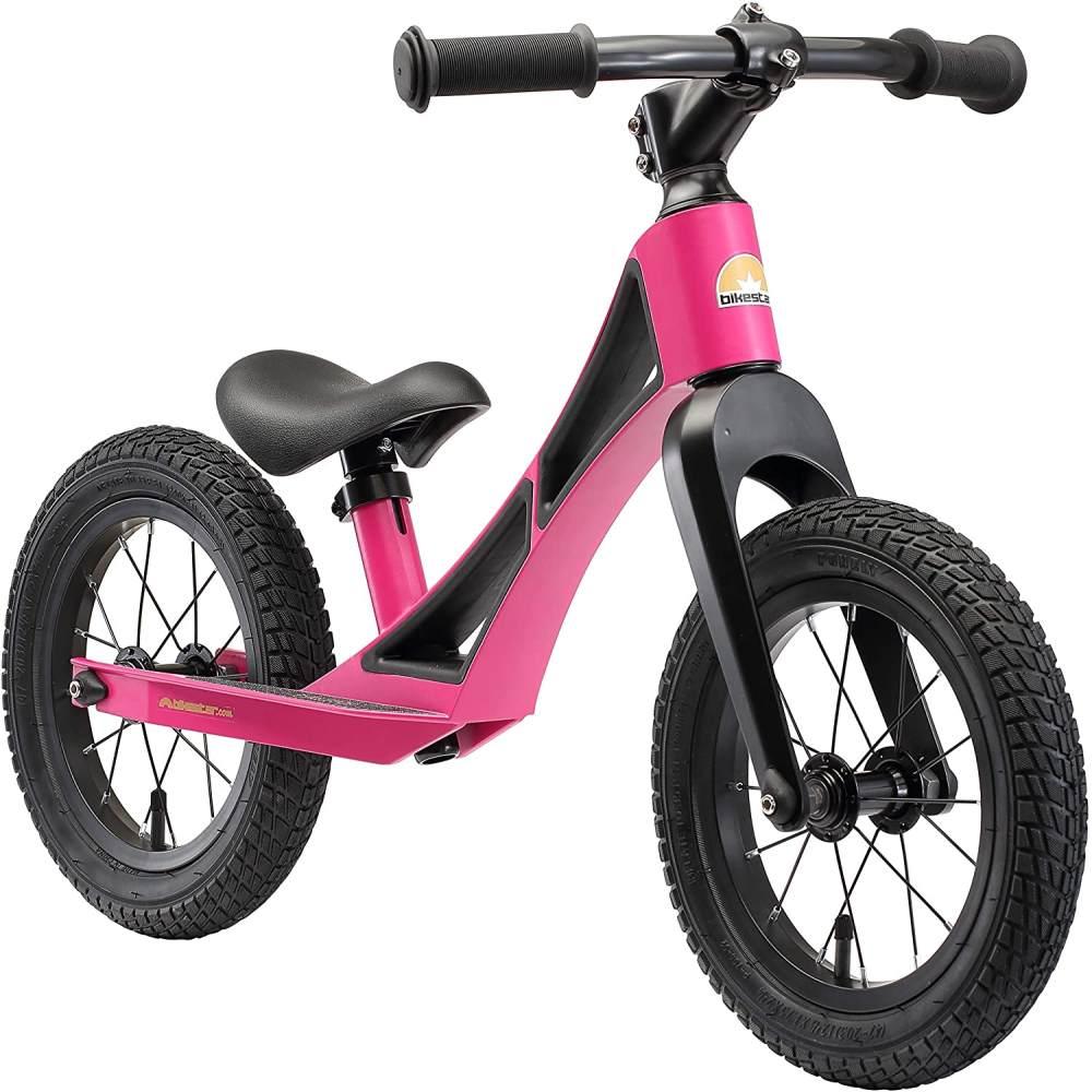 BIKESTAR Magnesium (superleicht) Kinderlaufrad Lauflernrad Kinderrad für Jungen und Mädchen ab 3 - 4 Jahre | 12 Zoll Kinder Laufrad BMX Ultraleicht | Berry Lila | Risikofrei Testen Bild 1