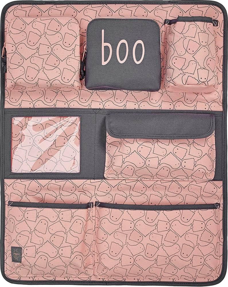 LÄSSIG Autoorganizer Mädchen Autorücksitzorganizer Rücksitztasche für Auto oder Kinderzimmer zum Hängen zusammenklappbar / Car-Wrap-to-Go, Spooky Peach, 55 cm Bild 1