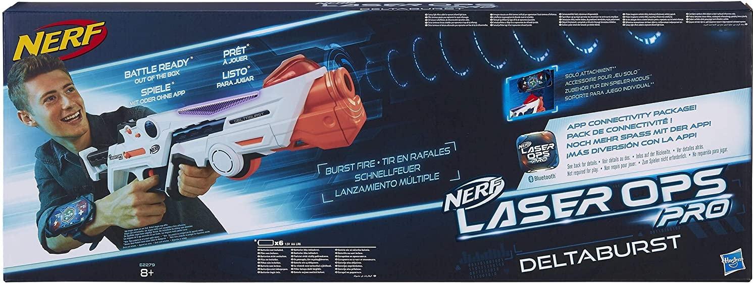 Nerf Laser Ops Pro DeltaBurst, LaserTag-Blaster inkl. Licht- & Soundeffekt, mit LCD Display und Infrarot Schüssen, Kinderspielzeug, auch für Erwachsene Bild 1