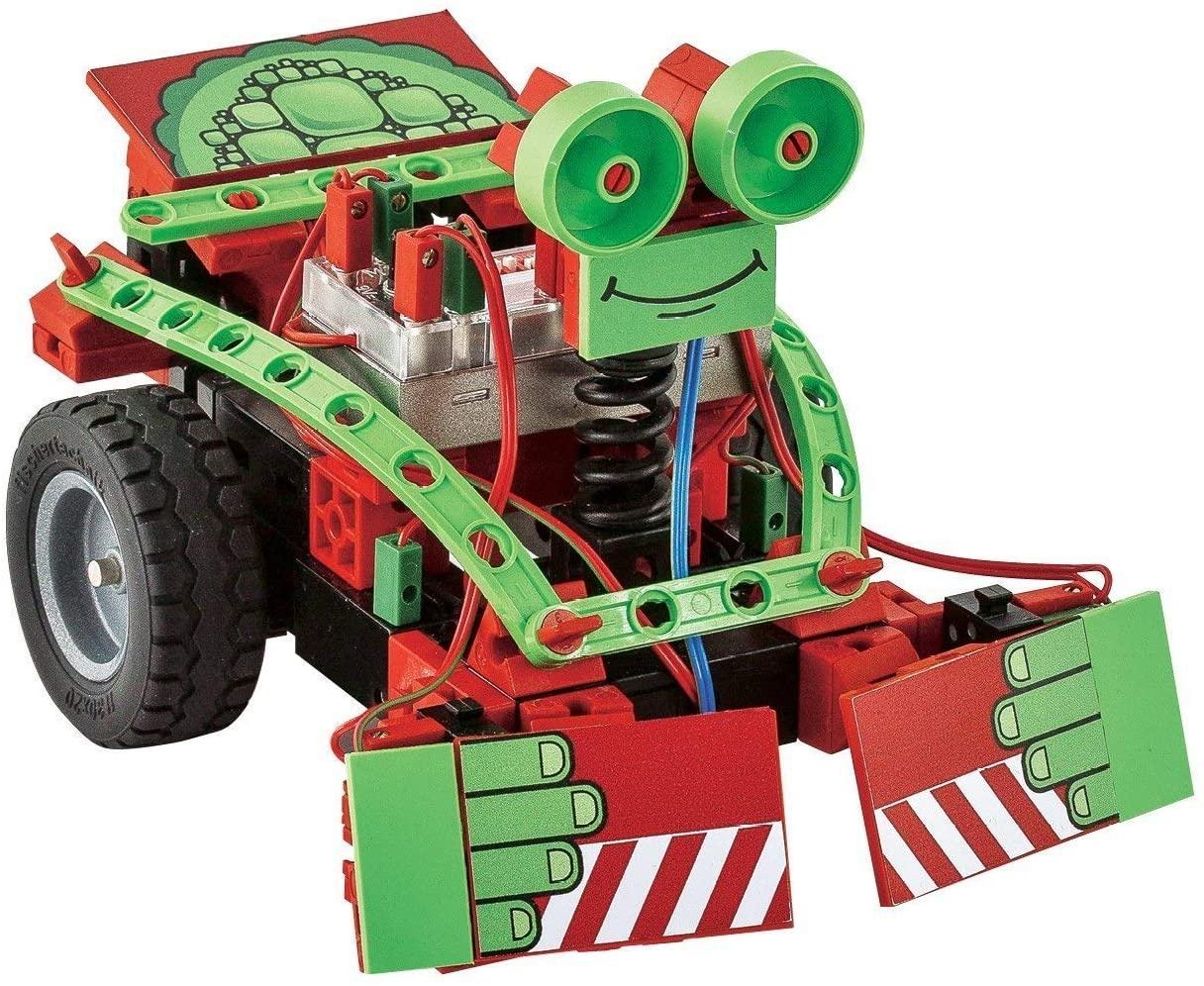 fischertechnik Mini Bots - das Roboter Spielzeug mit 5 Modellen bietet den Einstieg in das Thema Roboter - der Roboter für Kinder beinhaltet ROBOTICS-Modul, IR Spursensor, 2 Taster und 2 XS-Motoren Bild 1