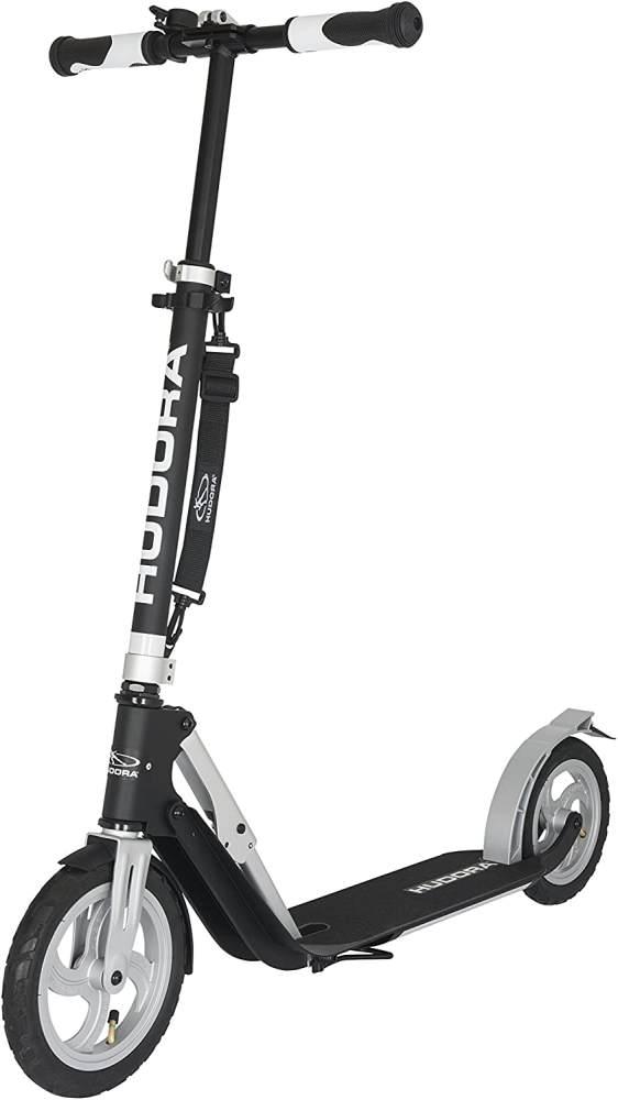 Hudora 14031 'Big Wheel Air 230' Scooter, höhenverstellbar bis 106,5 cm, klappbar, max. belastbar bis 120 kg, schwarz/silber Bild 1