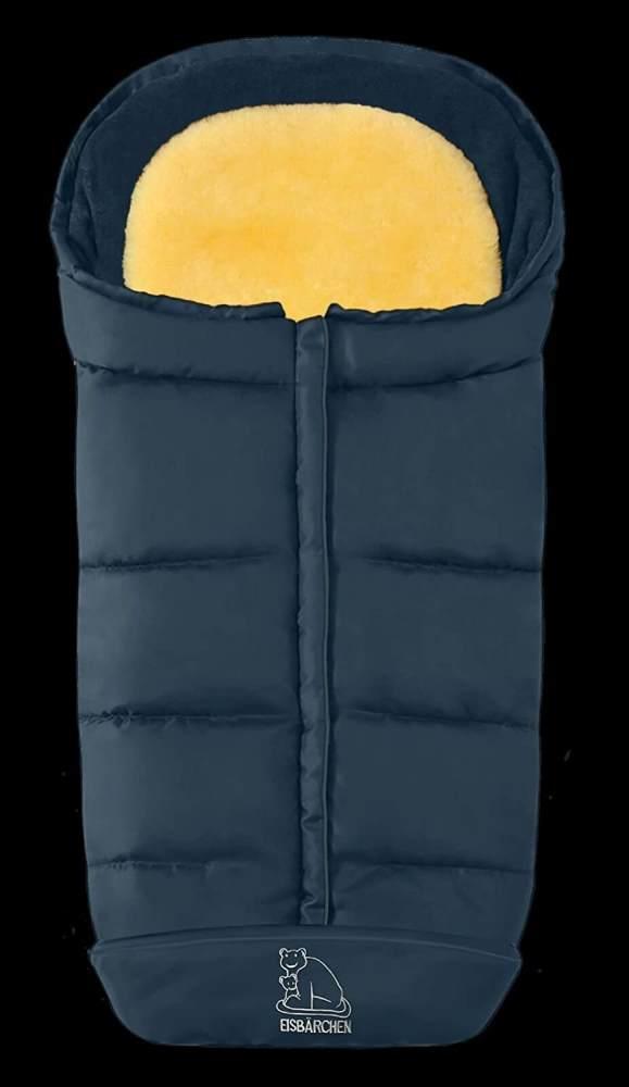 Heitmann Komfort 2-in-1-Fußsack marineblau, mit Lammfelleinlage, universell einsetzbar Bild 1