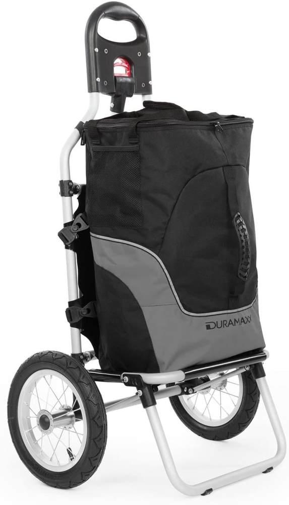 Duramaxx Carry Grey Fahrradanhänger max. Traglast 20kg schwarz/grau Bild 1