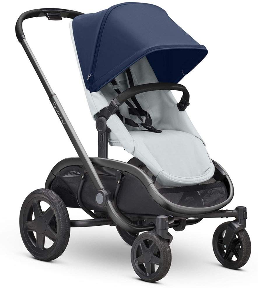 Quinny Hubb Mono XXL Shopping-Kinderwagen, großer Einkaufskorb, einfach klappbarer Kinderwagen, nutzbar ab ca. 6 Monate bis ca. 3,5 Jahre, Navy on Grey Bild 1