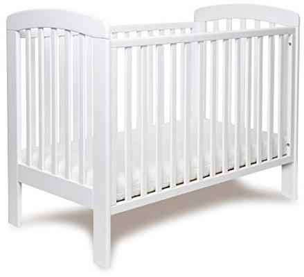 Stillerbursch Gitterbett aus Buchenholz 120x60 cm, weiß Bild 1