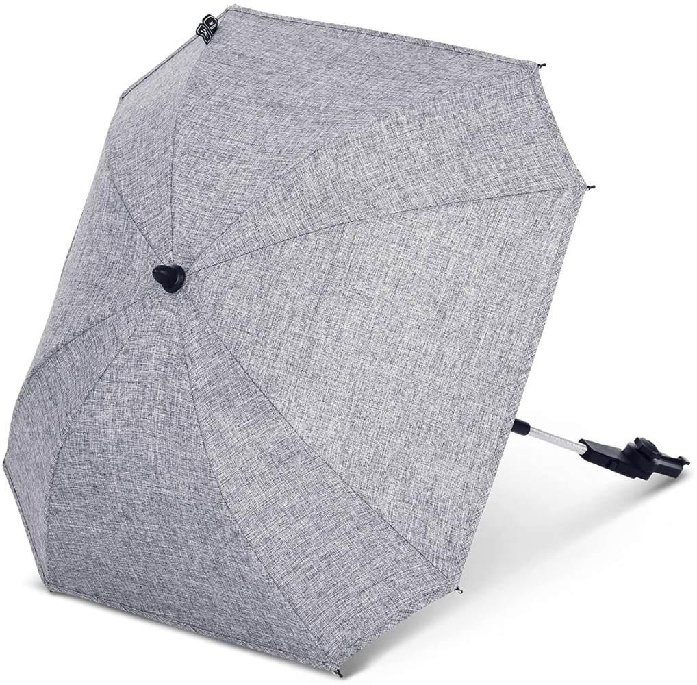 ABC Design Universal Sonnenschirm Sunny – für Kinderwagen und Buggy – UV-Schutz 50+ – Universalhalterung für Rund- und Ovalrohre – Farbe: graphite grey Bild 1