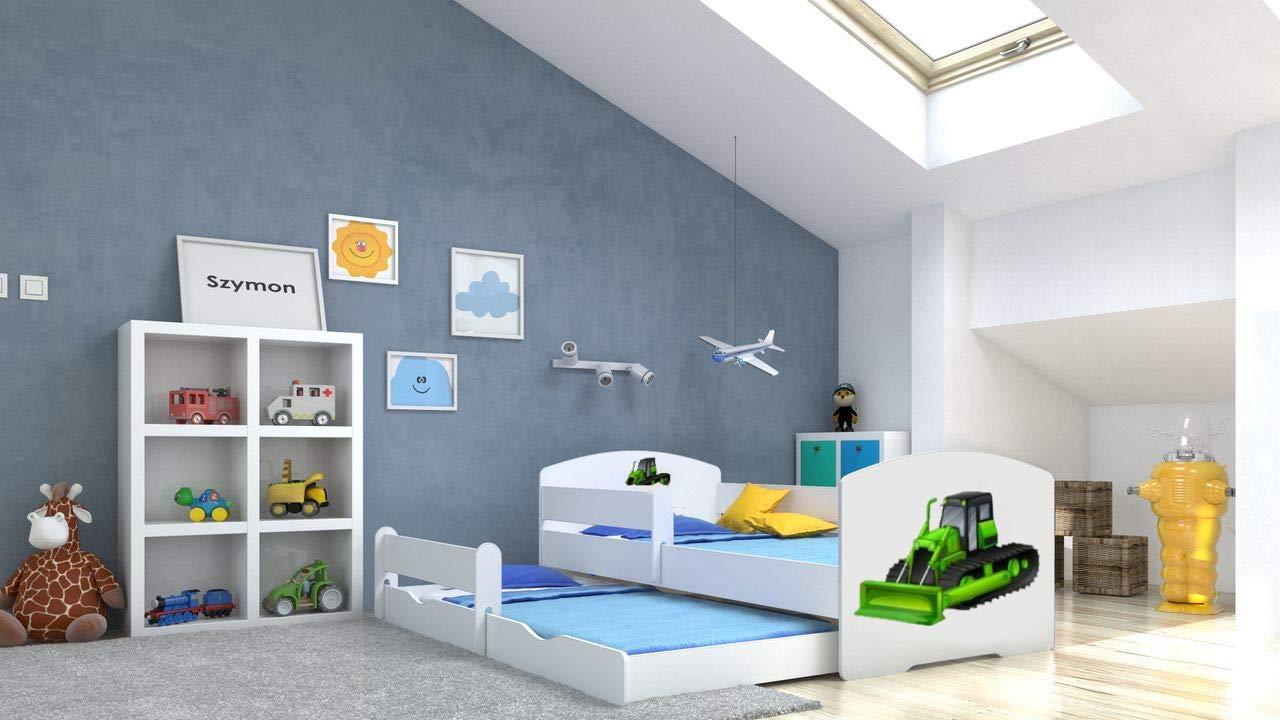 Angelbeds 'Luk' Kinderbett 80x160 cm, Motiv 24, inkl. Flex-Lattenrost, Schaummatratze und Schubbett Bild 1