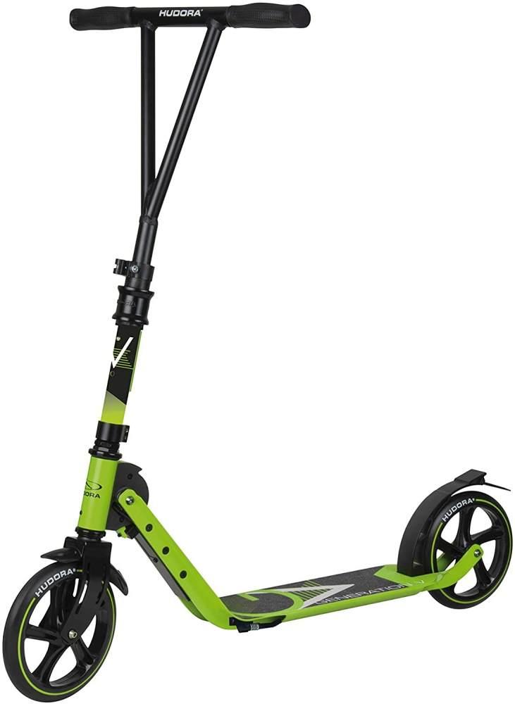 HUDORA 14113 ' BigWheel Generation V 205' Scooter, höhenverstellbar bis 97 cm, klappbar, max. belastbar bis 100 kg, limegrün Bild 1