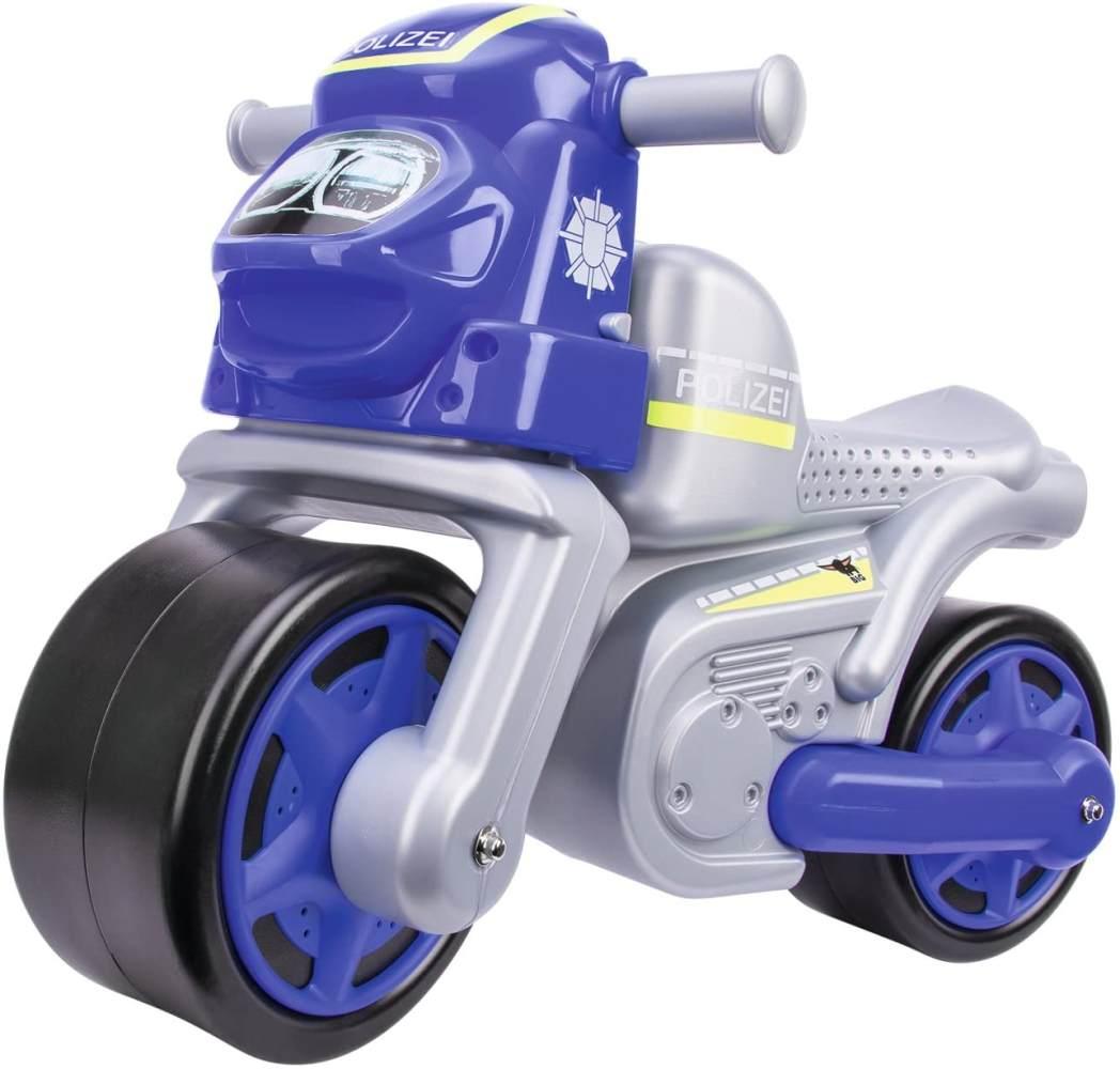 BIG 800056312 - Bike Polizei Kinderfahrzeug, Silber Bild 1