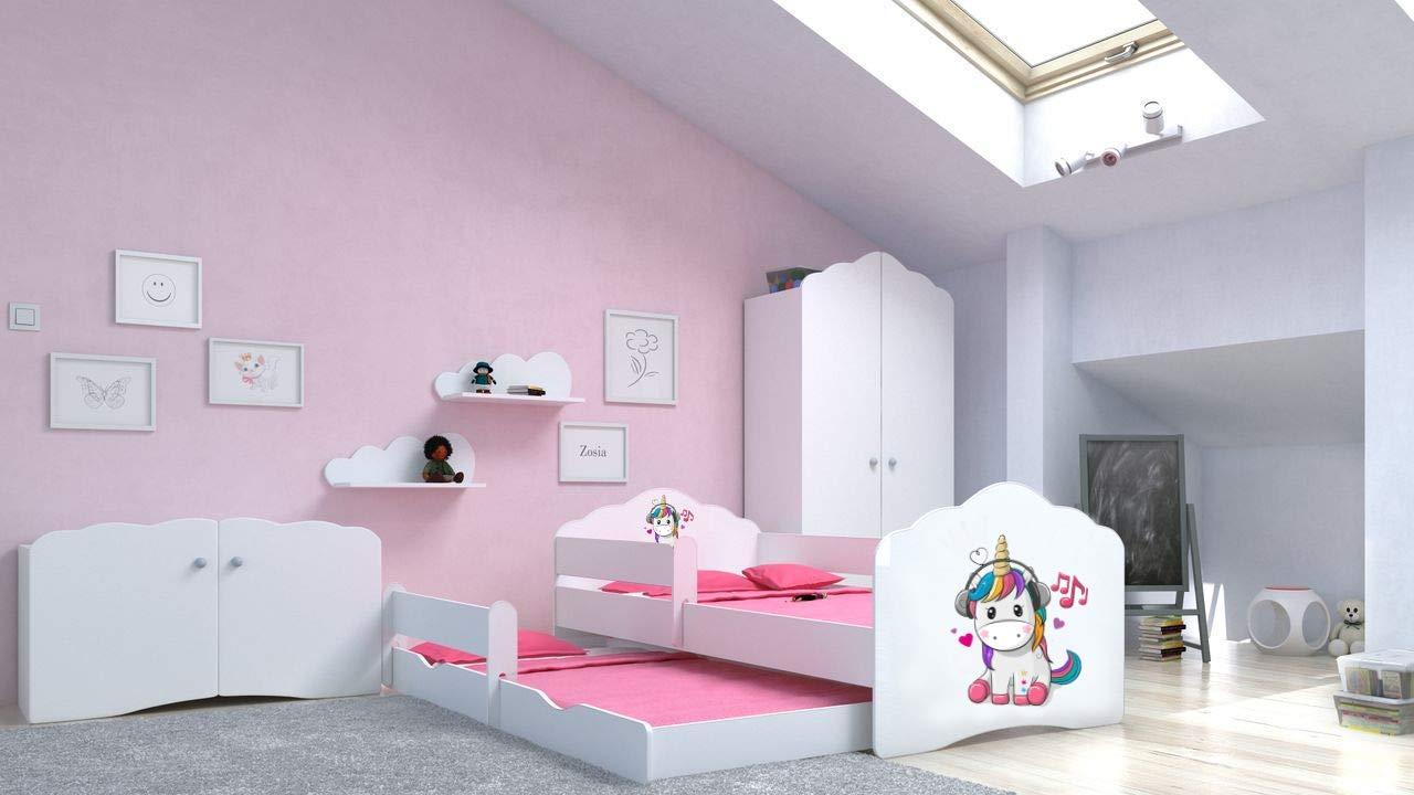 Angelbeds 'Fala' Kinderbett 80x160 cm, Motiv E4, inkl. Flex-Lattenrost, Schaummatratze und Schubbett Bild 1
