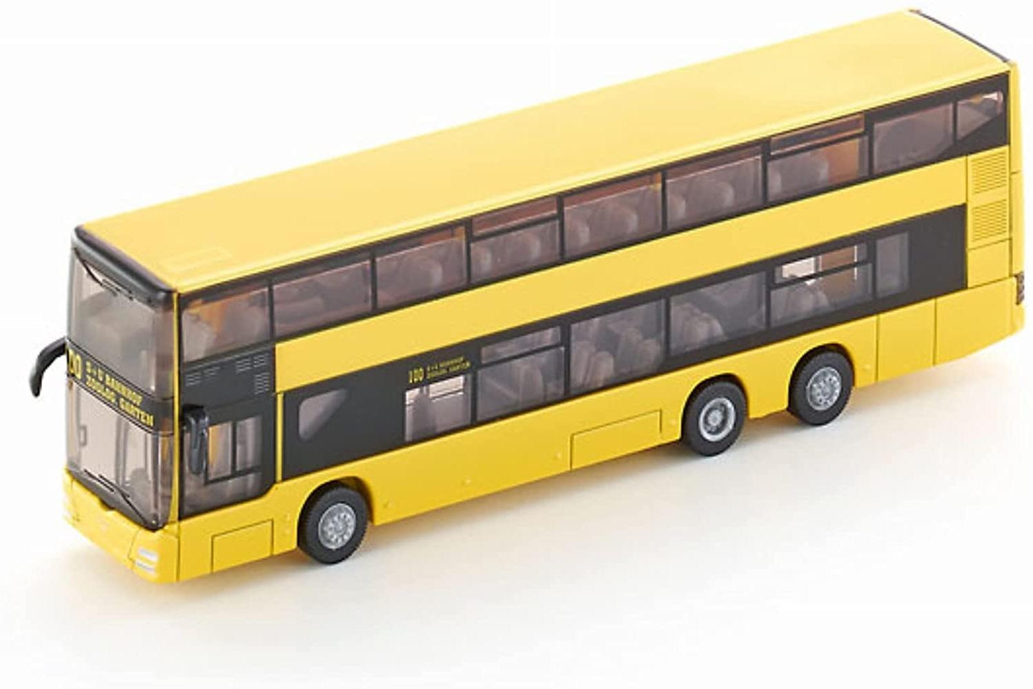 SIKU 1884, MAN Doppelstock Linienbus, 1:87, Metall/Kunststoff, Gelb, Bereifung aus Gummi Bild 1