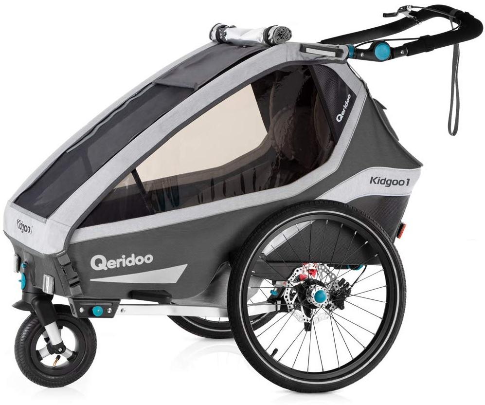 Qeridoo 'Kidgoo1 Sport' Fahrradanhänger 2020, Grau, 1-Sitzer Bild 1