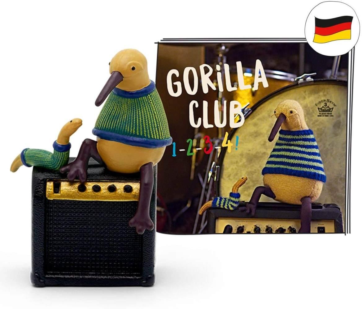 tonies Hörfiguren für Toniebox: Gorilla Club - 1-2-3-4! - 14 Kinderlieder zum Singen und Tanzen Figur - ca. 45 Min - ab 6 Jahre - DEUTSCH Bild 1