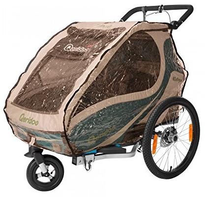 Regenschutz für Kinderfahrradanhänger Kidgoo1 Bild 1