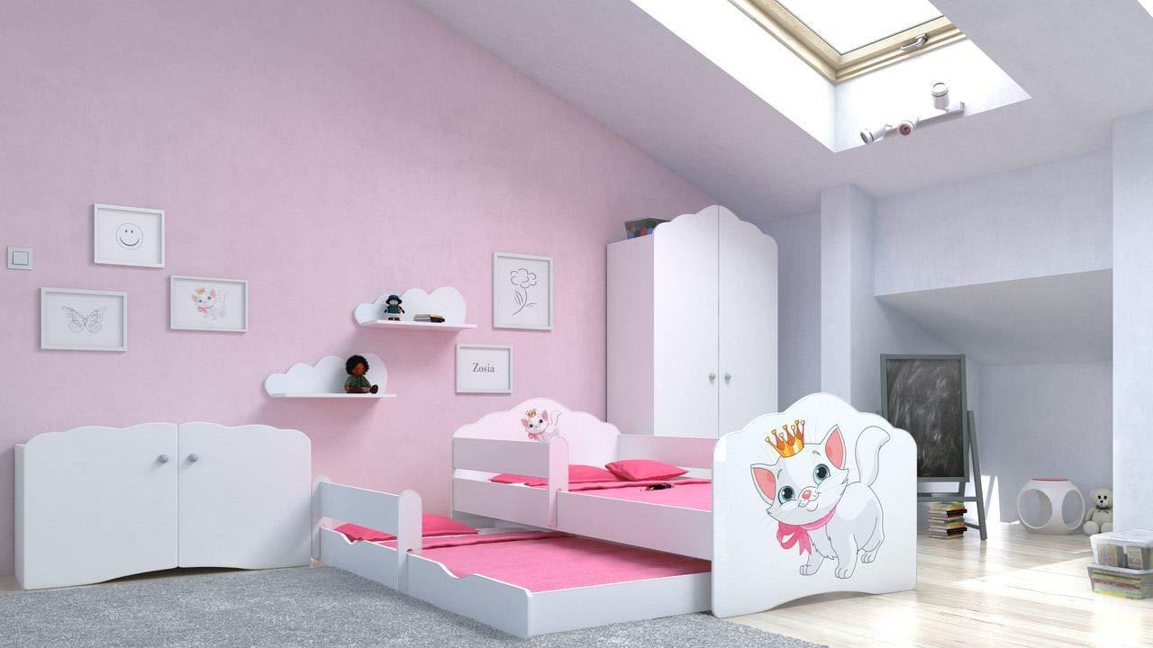 Angelbeds 'Fala' Kinderbett 80x160 cm, Motiv 14, inkl. Flex-Lattenrost, Schaummatratze und Schubbett Bild 1