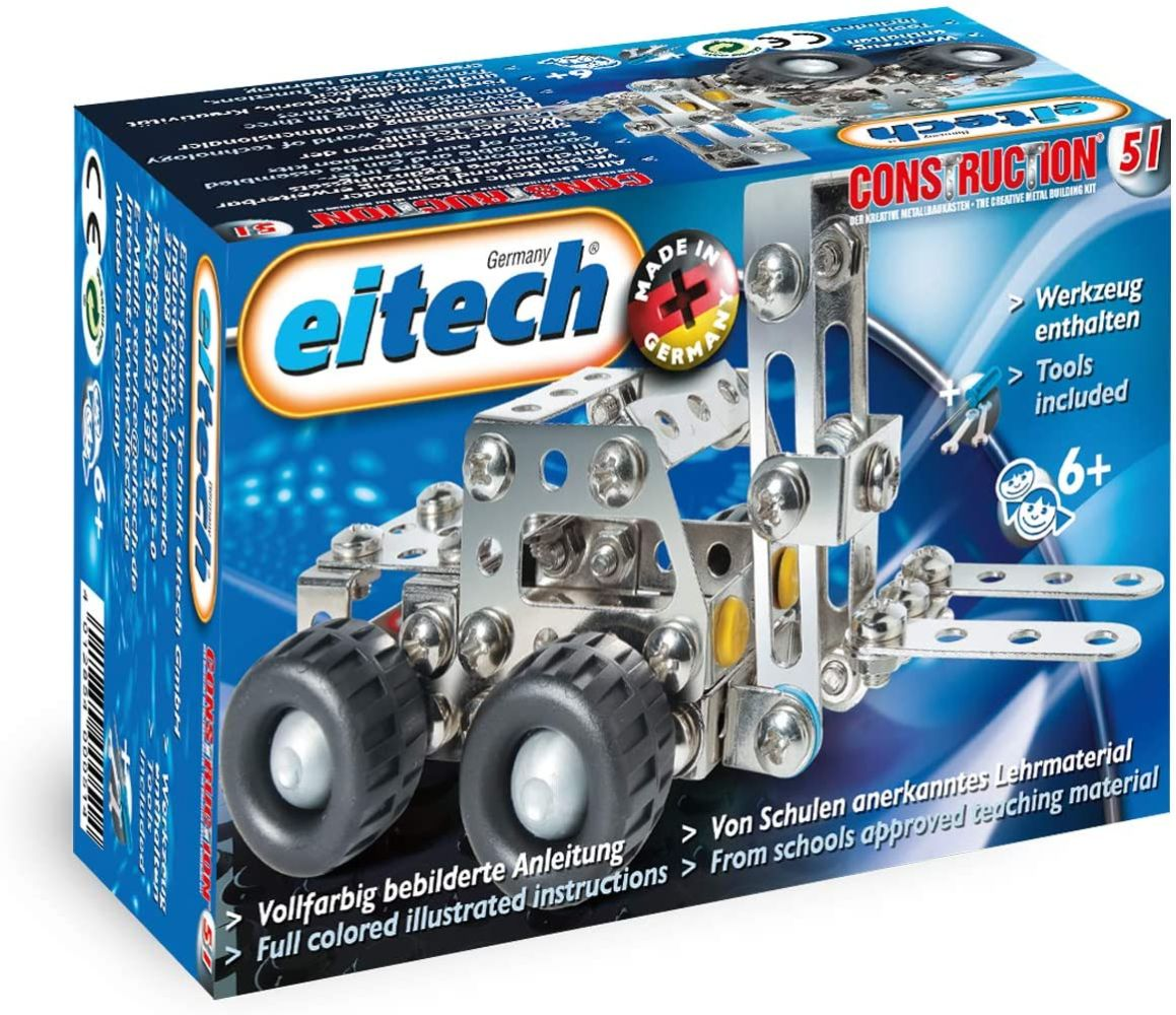 eitech Metallbaukasten C51 Starter-Set Mini-Gabelstapler Bild 1