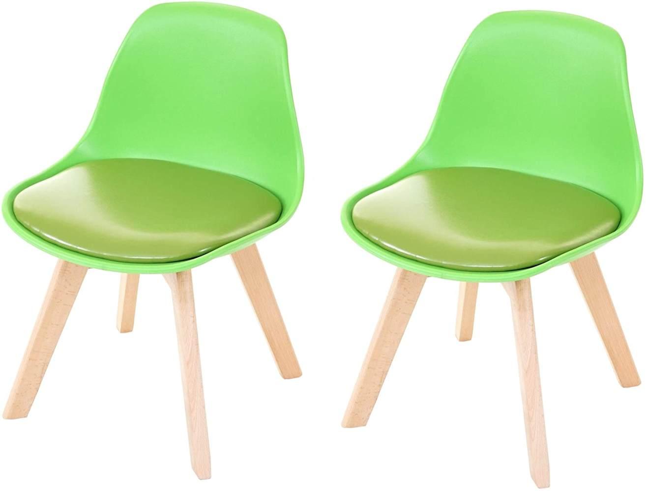 Mendler 2-er Set Kinderstuhl Kunstleder, grün Bild 1