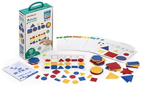 Miniland Miniland95042, Activity Logical Blocks, Set mit Geometrischen Spielsteinen (evtl. Nicht in Deutscher Sprache) Bild 1
