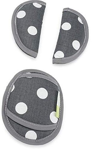 Priebes PHILIP Gurtpolster für Babyschale | praktischer Gurtschoner | waschbar bei 30 Grad | 100% Baumwolle | weich & bequem | Made in EU, Design:polka anthra Bild 1