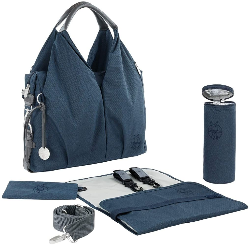 LÄSSIG Wickeltasche Blau inkl. Wickelzubehör, nachhaltig Bild 1