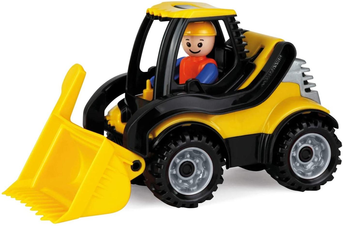 Lena 01622 Truckies Schaufellader, stabiles Baustellen Fahrzeug ca. 22 cm, kleines Spielfahrzeug Radlader für Kinder ab 2 Jahre, robuster Spielzeug Lader für Sandkasten, Strand und Kinderzimmer Bild 1