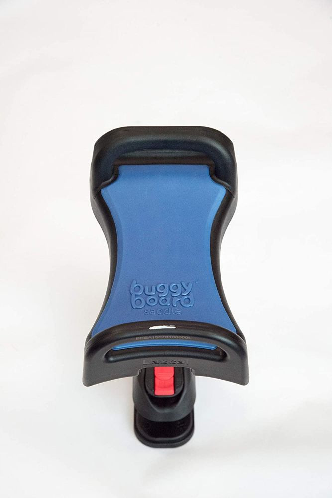 Lascal Saddle für BuggyBoard Maxi, einklappbarer und abnehmbarer Sitz, Kinderwagen Zubehör für Maxi-Modelle ab 2011, bequeme Sitzmöglichkeit für Kinderbuggys, blau Bild 1