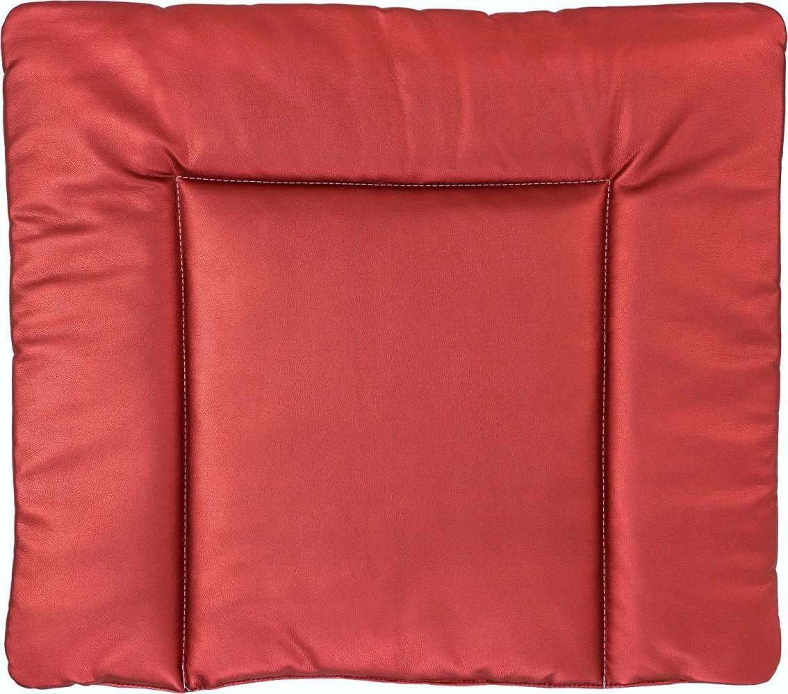 Ideenreich 2460 Wickelauflage Lederoptik (Metallic) Abwaschbar 75cm x 85cm, Rot Bild 1