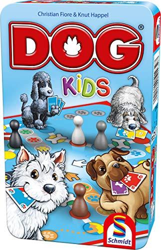 Schmidt Spiele 51432 Dog Kids, Bring Mich mit Spiel in der Metalldose, bunt Bild 1
