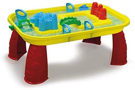 Jamara 460344 460344-Sand-und Wasserspieltisch Castle-mit Wasser befüllbar, einfache Montage, Mehrfarbig, manuelles Schaufelrad, fördert die Kreativität, bunt Bild 1