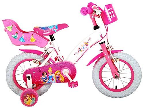 Kubbinga bv Disney Princess Kinderfahrrad, 12 Zoll Kinder Fahrrad Pzinzessinen Mädchen Rad Bild 1