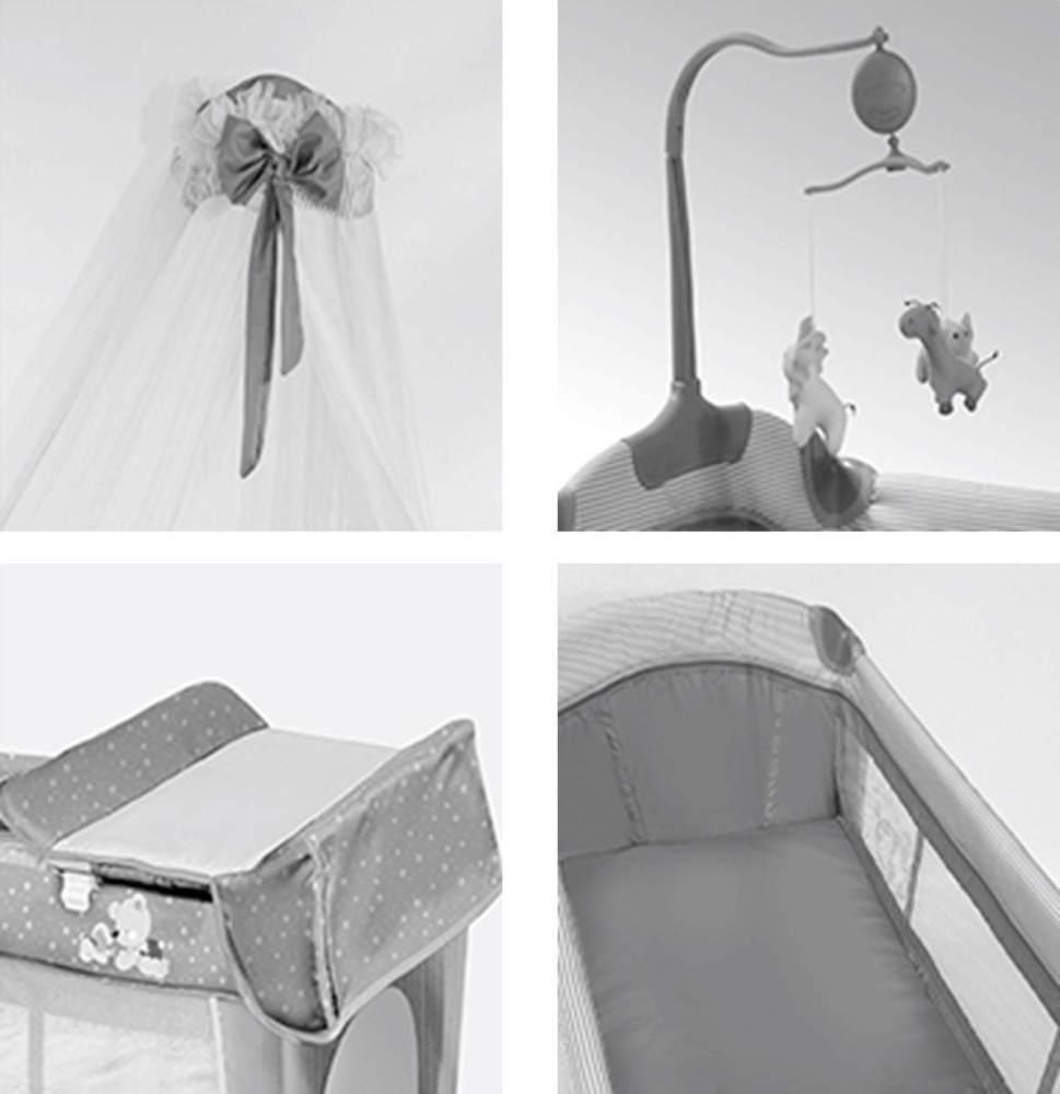Lorelli 'Sleep ´n Dream' Reisebett, Hellblau, 2 Ebenen, Baldachin, Mobile, faltbar Bild 1