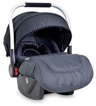 Lorelli Babyschale Delta Gruppe 0+ (0-13 kg), Sonnendach faltbar, Fußabdeckung, Farbe:schwarz Bild 1
