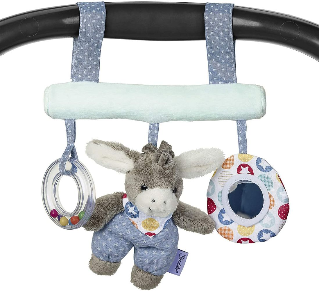 Sterntaler Spielzeug zum Aufhängen mit Klettverschluss, Esel Emmi, Inklusive Rassel, Alter: Für Babys ab der Geburt, Mehrfarbig Bild 1