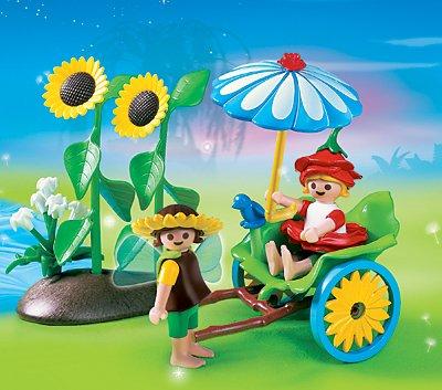 PLAYMOBIL® 4197 - Feenwelt - Blüten-Rikscha mit Blumenfeen Bild 1