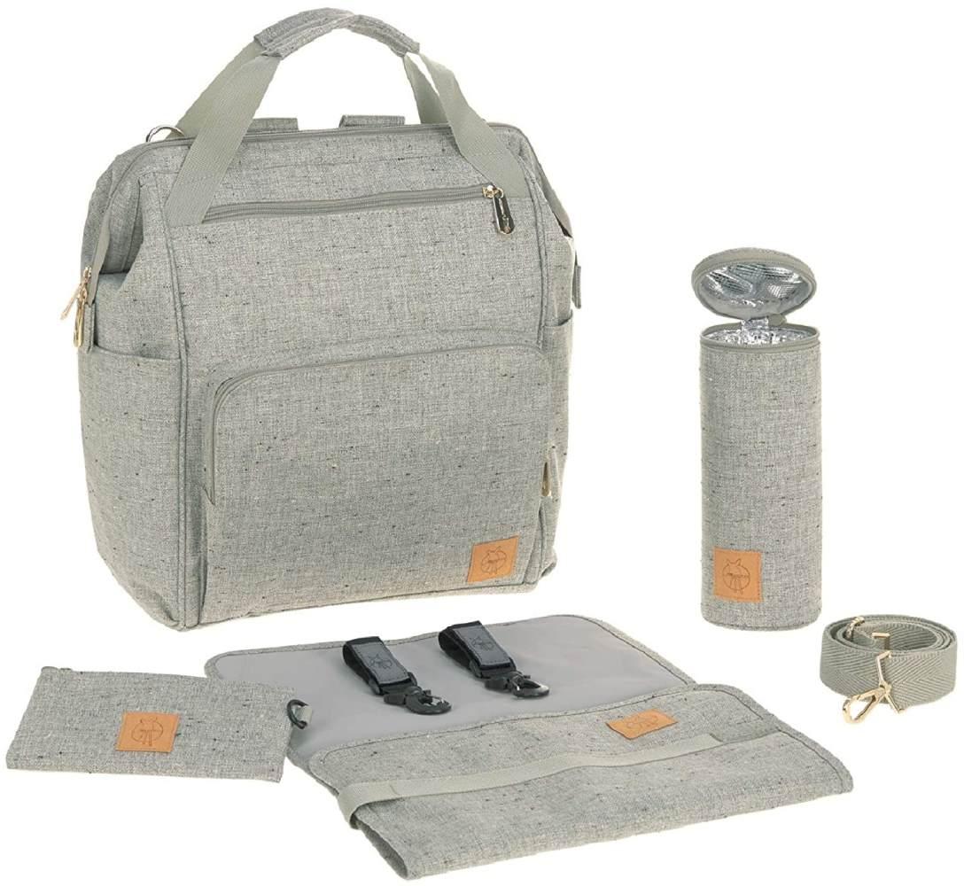 LÄSSIG Baby Wickelrucksack Wickeltasche inkl. Wickelzubehör nachhaltig produziert/Goldie Backpack ECOYA, beige Bild 1
