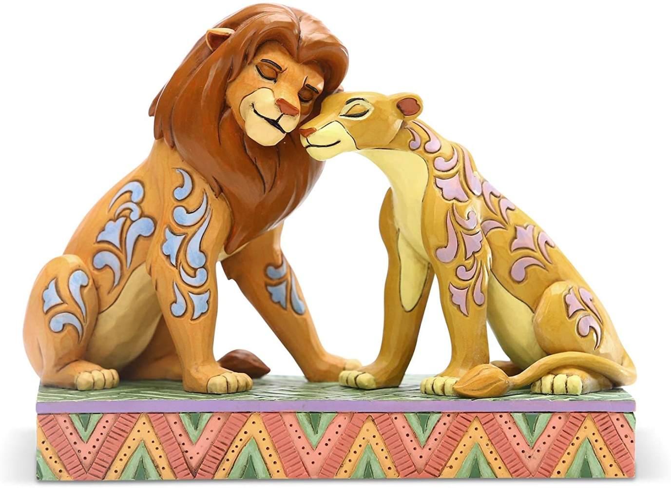 König der Löwen Statue Simba and Nala Snuggling 13 cm Bild 1