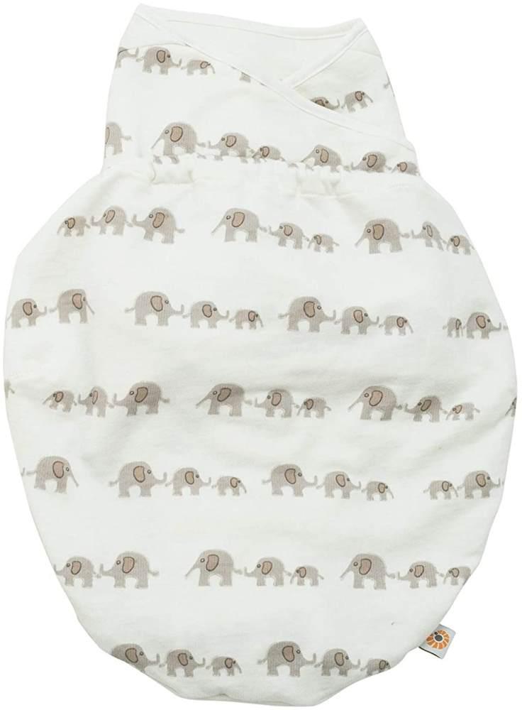 Ergobaby Pucksack Baby 0-3 Monate Baumwolle, Elephant Puck BabysSchlafsack Ganzjahres Pucktuch Swaddler Bild 1