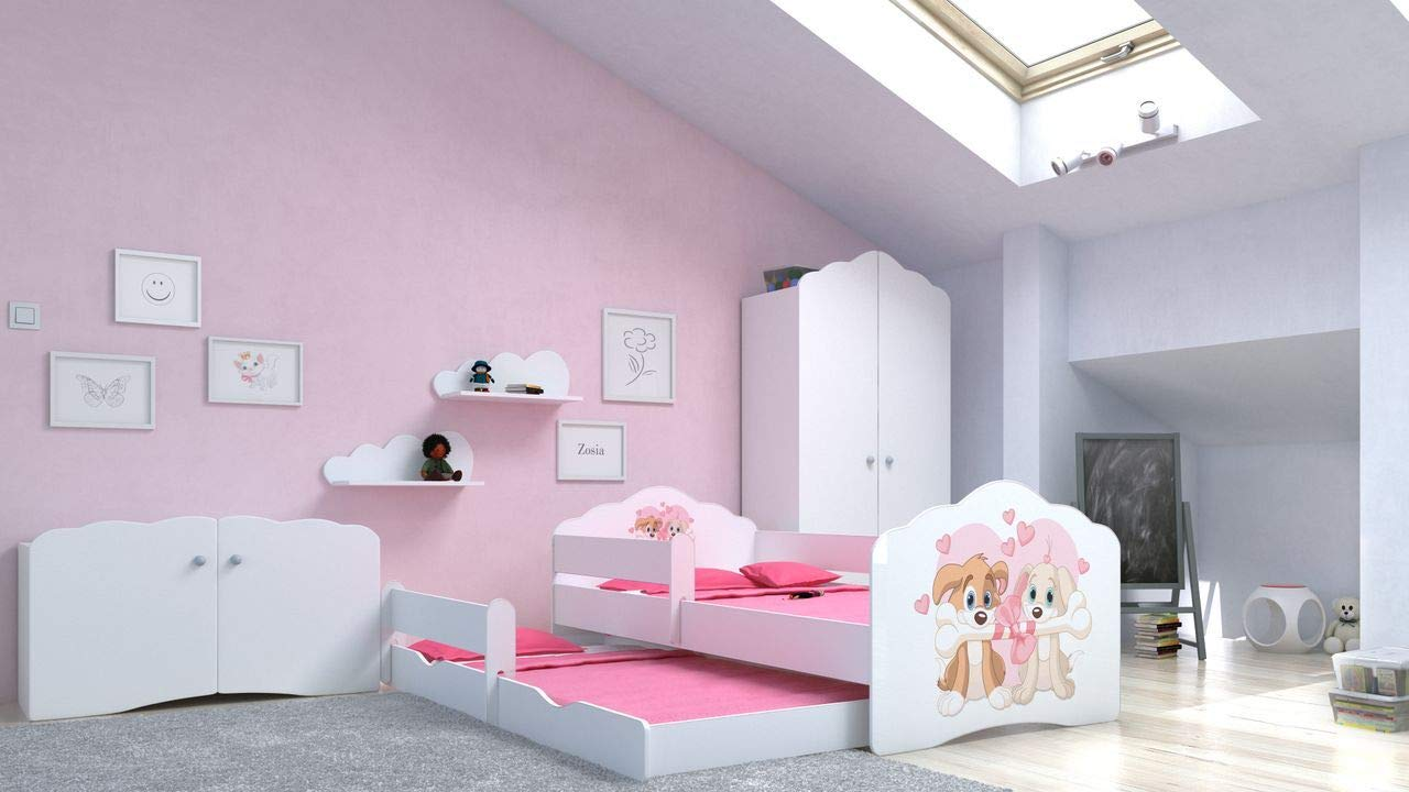 Angelbeds 'Fala' Kinderbett 80x160 cm, Motiv 8, inkl. Flex-Lattenrost, Schaummatratze und Schubbett Bild 1