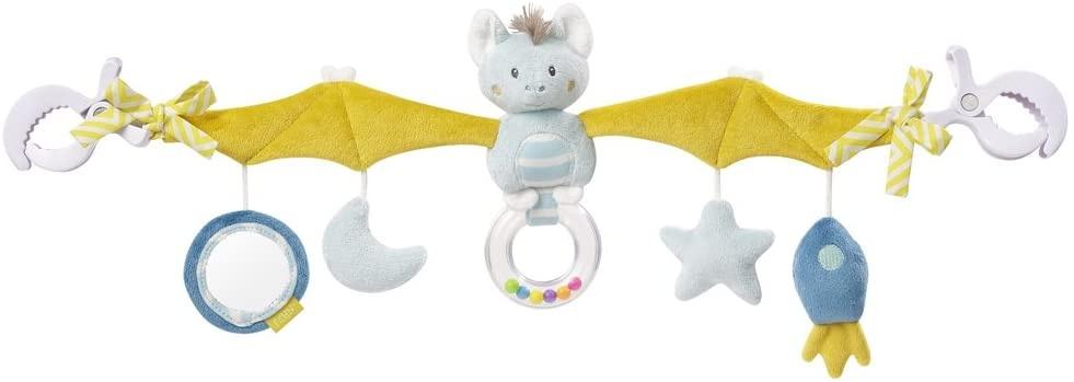 Fehn 065114 Kinderwagenkette Fledermaus – Mobile-Kette mit niedlichen Figuren für Babys und Kleinkinder ab 0+ Monaten – Länge: 48 cm Bild 1