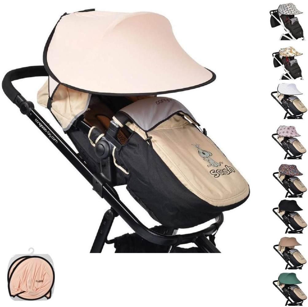 Cangaroo Universal Sonnenschutz für den Kinderwagen rosa Bild 1